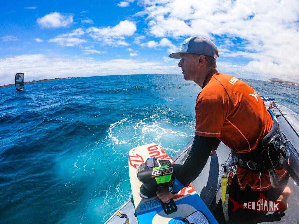 Private Kitesurfing boat Lessons in Fuerteventura